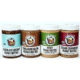 Peanut Butter 4 Pack-Chocolate Coconut, Cinnamon Raisin, Honey Pretzel, Sesame Cranberry