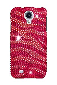 HHI Full Diamond Graphic Case for Samsung Galaxy S4 - Pink/Hot Pink Zebra (Package include a HandHelditems Sketch Stylus Pen)