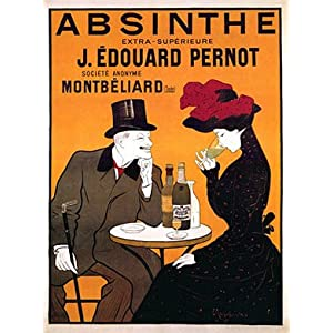 "Vintage FRENCH ""Absinthe Pernot"" Man and Girl at the BAR LIQUOR Poster by Leonetto Cappiello"