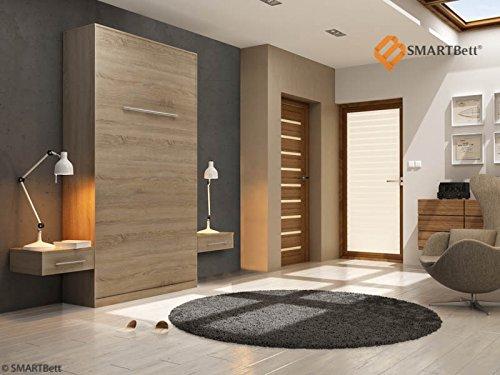 Armario Smart cuna cama plegable cama 120 cm vertical madera de roble Sonoma