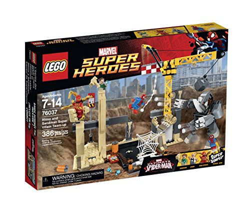 LEGO-Super-Heroes-76037-Rhino-and-Sandman-Super-Villain-Team-Up-Building-Kit