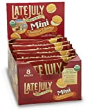 51JY9RVYMTL. SL160  Late July Organic Mini Cheddar Cheese Bite Size Sandwich Crackers, 1.125 Ounce Pouches in 8 Count Boxes (Pack of 4)