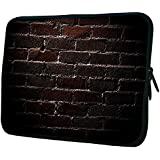 "Snoogg Bricks Wall 17"" 17.5"" 17.6"" Inch Laptop Notebook Slipcase Sleeve Soft Case Carrying Case For Macbook Pro Acer Asus Dell Hp Sony Toshiba"
