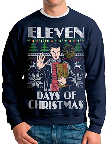 Stranger Things Eleven Ugly Christmas Sweater