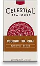 Celestial Seasonings Coconut Thai Chai Tea 20 Count Pack of 6