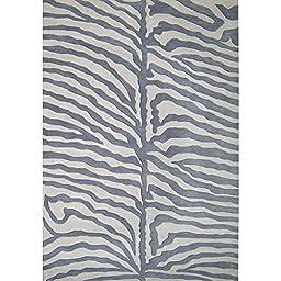 Alliyah Handmade Grey New Zealand Blend Indoor Wool Rug (5\' x 8\')