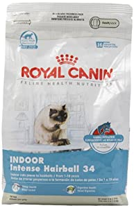 Royal Canin Dry Cat Food, Intense Hairball 34 Formula, 3-Pound Bag