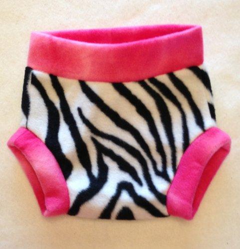 Chunk USA Fleece Diaper Covers (Medium, Zebra)