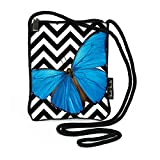 Harold Feinstein Bold Blue Butterfly Slim Shoulder Bag