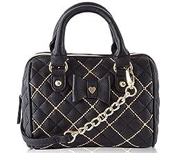 Betsey Johnson Shot Beads Mini Crossbody Satchel Bag - Black Brand: Bet