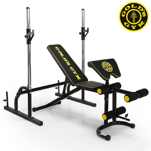 Gold's Gym Deluxe Maxi Weight Bench With Power Rack