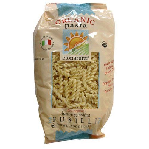 Buy Bio Nature Organic Pasta, Fusilli, 16 Ounces (Pack of 6) (Bio Nature, Health & Personal Care, Products, Food & Snacks, Natural & Organic Food)