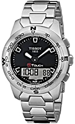 Tissot Men's T0474201105100 T-Touch II Black Digital Multi Function Watch