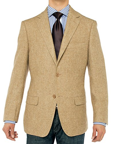 Luciano Natazzi Men's Camel Hair Blazer Modern Fit Suit Jacket