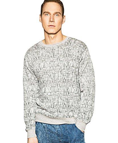Bellfield-Felpa Pullover design testurizzato, da uomo Grey Medium