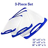 Cutting Board --- 3-Piece Plastic Cutting Boards Set | DISHWASHER SAFE | Kitchen Accessories, Kitchen Supplies, Cookware, Kitchen Tools & Kitchen Gadgets, Chopping Board | FDA, Cutting Board Plastic for Chef | Better than Wood Cutting Board | Rave Reviews