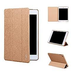 Qinda Premium Smart Flip Case cover for Apple iPad mini 4 Tablet [Sleep/Wake function] (Gold)