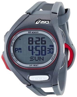 Asics Unisex Race CQAR0206 Grey Polyurethane Quartz Watch with Digital Dial by Asics