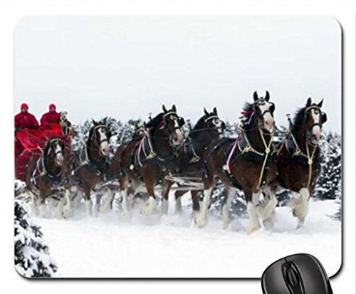 budweiser-clydesdales-mouse-pad-mousepad-winter-mouse-pad