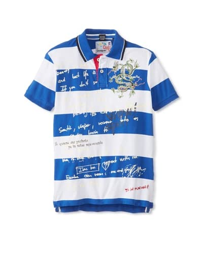 Desigual Men's Spirit Striped Polo