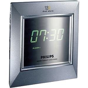 Philips  Am/fm Tuner Dual/repeat Alarm Wake To Radio Or Alarm