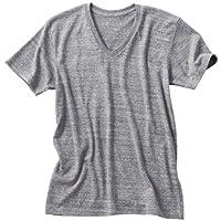 (ダルク)DALUC やわらかい着心地と優しい色合いのトライブレンド 半袖 無地 Vネック Tシャツ 4.3oz メンズサイズ ( S , M , L , XL )