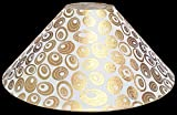 "13"" Round White with Golden Polka Dots Designer Lamp Shade for Table or Floor Lamp"