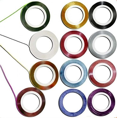 Decoration Sticker Rolls Striping Nail Art Tape Random Mixed 10Pcs 10 Color Line (Tie Dye Nails compare prices)