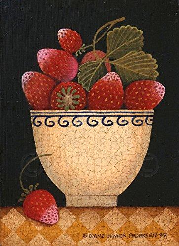 Cup O Strawberries by Diane Ulmer Pedersen Fruit Still Life Kitchen Print Poster 12x16
