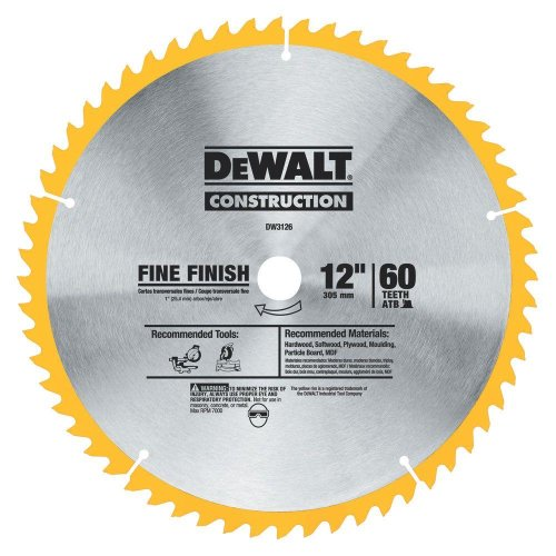(Dw3126) Series 20 12 In. 60T Fine Finish Saw Blade