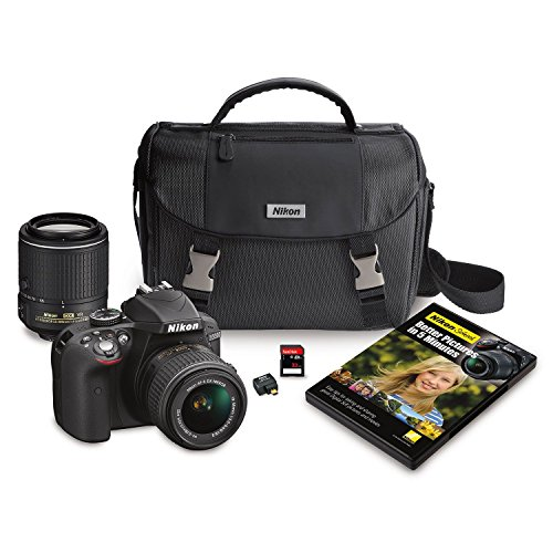Nikon-13470-D3300-HD-SLR-242MP-Camera-with-18-55mm-VR-II-Lens-55-200mm-Lens