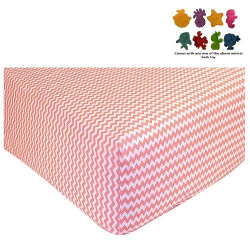 Coral Crib Sheets front-924448