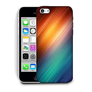 Snoogg Abstract Rays Of Color Printed Protective Phone Back Case Cover For Apple Iphone 5C