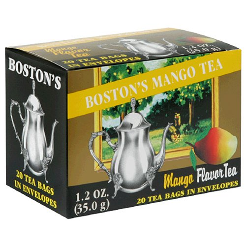 Buy Boston Tea Mango Tea, 20-Count Boxes (Pack of 6) (Boston Tea, Health & Personal Care, Products, Food & Snacks, Beverages, Tea, Black Teas, Tea Bags)