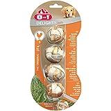 8in1 Delights Kaubälle, gesunder Kausnack für Hunde mit echtem Hähnchenfleisch, Größe S, 1 Packung je 4 Stück (1 x 144 g)