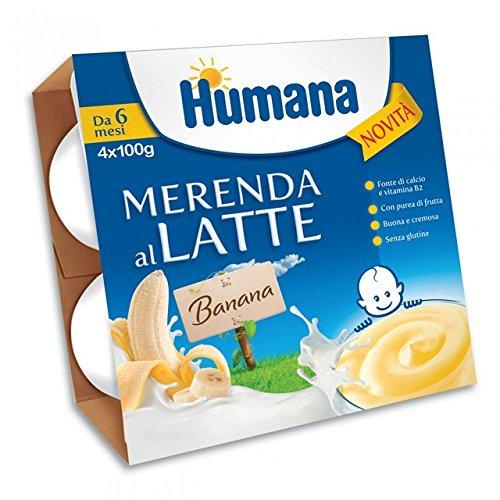 Humana merenda al latte Banana 4x400gr