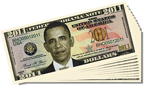 Barack Obama 2011 Federal Reserve Note - 10 Count with Bonus Clear Protector & Christopher Columbus Bill
