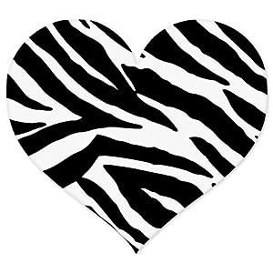 Amazon.com: Zebra Animal Print Heart car bumper sticker 4 ...