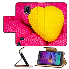 buy Luxlady Premium Samsung Galaxy Note 4 Flip Pu Leather Wallet Case Background Of Hearts With One Yellow Popping Out The Group Image Id 26138662