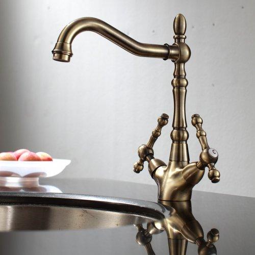 Traditional Georgian Style Antique Bronze Brass Kitchen Sink Mixer Tap VICTORIA