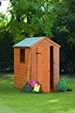 6' x 4' Wooden Garden Shed Single Door Apex Roof Shiplap Wood 10 Year Anti-Rot Guarantee