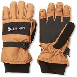 Carhartt Men\'s W.P. Waterproof Insulated Work Glove, Brown/Black, Large