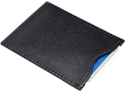 Royce Leather RFID Blocking Credit Card Sleeve in Italian Saffiano Genuine Le...