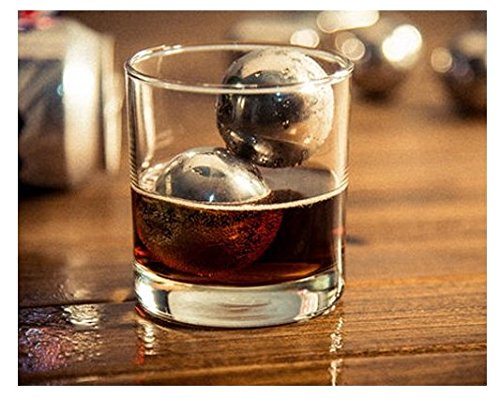 Bundle, Gift, Man, Whiskey, Ice, Stone, Slate Coasters, Ball, Sphere, Steel, Drink Soda Beer Chillers - 40mm, Chilling Ball Wine Juice