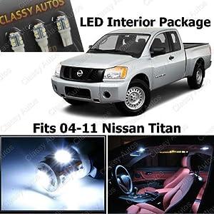 Amazon.com: Classy Autos Nissan Titan White Interior LED