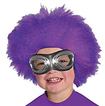 Amazon.com: Afro Style Wig Child's Purple Minion Costume ...