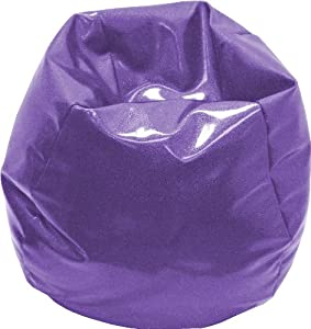 Gold Medal 30008410814 Small Sparkle Vinyl Bean Bag for Children, Purple