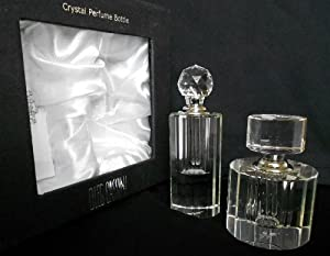 Amazon.com - Oleg Cassini Crystal Fluted Perfume Bottle ...