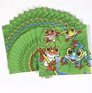 Frog Party Napkins (16 pc)