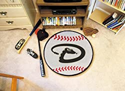 "Arizona Diamondbacks 29"" Round Baseball Floor Mat (Rug)"